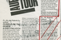 Presse – Rumble On The Beach Archiv - Fabrik coesfeld - 1986