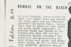 Presse – Rumble On The Beach Archiv - Limited Edition - 1986