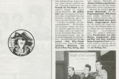 Presse – Rumble On The Beach Archiv - Odeon - 1986