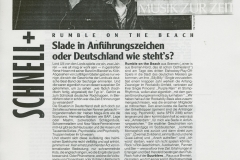 Presse – Rumble On The Beach Archiv - Spex - 1986