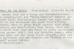 Presse – Rumble On The Beach Archiv - Stuttgart Röhre2 - 1986