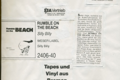 Presse – Rumble On The Beach Archiv - weserlabel info - 1986