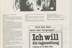Presse – Rumble On The Beach Archiv - HB Schlachthof Zeitung - 1987