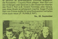 Presse – Rumble On The Beach Archiv - Kling Klang - 1987
