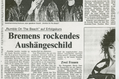 Presse – Rumble On The Beach Archiv - Kurier am Sonntag - 1987
