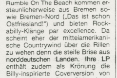 Presse – Rumble On The Beach Archiv - zitty - 1987