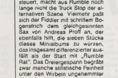 Presse – Rumble On The Beach Archiv – Tip - 1988