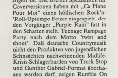 Presse – Rumble On The Beach Archiv - Bremer Blatt - 1988