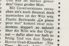 Presse – Rumble On The Beach Archiv - Kurier am Sonntag - 1988 (2)