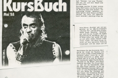 Presse – Rumble On The Beach Archiv - Kursbuch - 1988