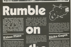 Presse – Rumble On The Beach Archiv - Sparkasse Club - 1988
