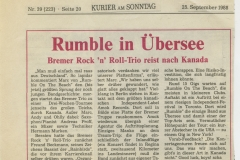 Presse – Rumble On The Beach Archiv - kurier am sonntag - 1988