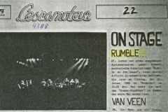Presse – Rumble On The Beach Archiv - music corner - 1988