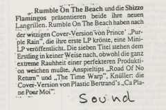 Presse – Rumble On The Beach Archiv - sound - 1988