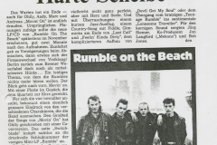 Presse – Rumble On The Beach Archiv - HB Kurier am Sonntag - 1989