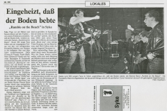 Presse – Rumble On The Beach Archiv - Syke - 1989