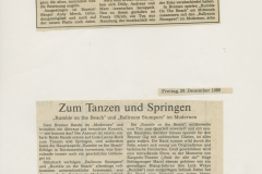 Presse – Rumble On The Beach Archiv - Weser Kurier - 1989