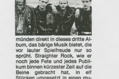 Presse – Rumble On The Beach Archiv - trend würzburg - 1990