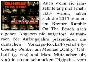 Rumbel On The Beach – Good Times – Februar/März 2016