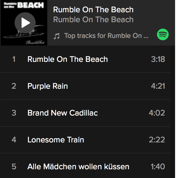 Rumble on the Beach on Spotify