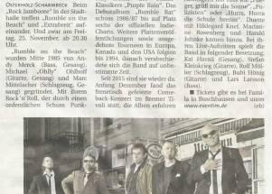 """""""Rumbles"""" und die """"Breiten""""  Doppelkonzert am Freitag, 25. November 2016"""