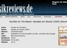 Presse -Rumble On The Beach: Randale am Strand – musicreviews.de