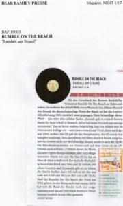Presse - Randale AM Strand von Rumble On The Beach - Mint Magazin