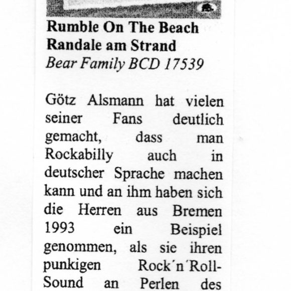 Presse – Randale am Strand von Rumble On The Beach – Oldie-Markt
