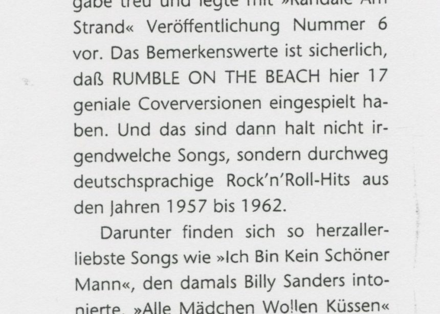 Presse – Randale am Strand von Rumble On The Beach – ???? 1993