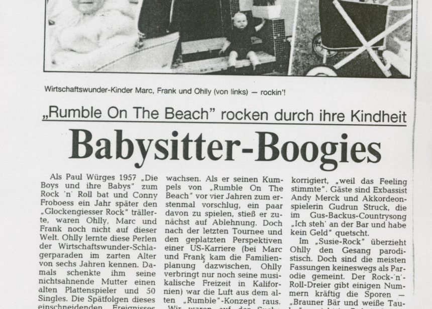 Presse – Randale am Strand von Rumble On The Beach – Weser Kurier Bremen 1993