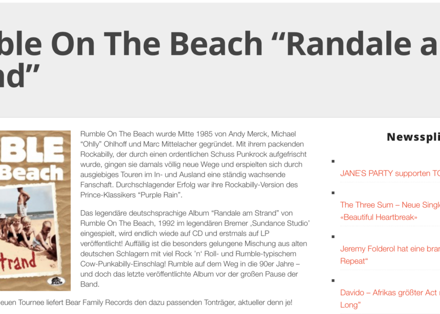 Presse – Randale Am Strand – Rumble On The Beach – medien-info.com