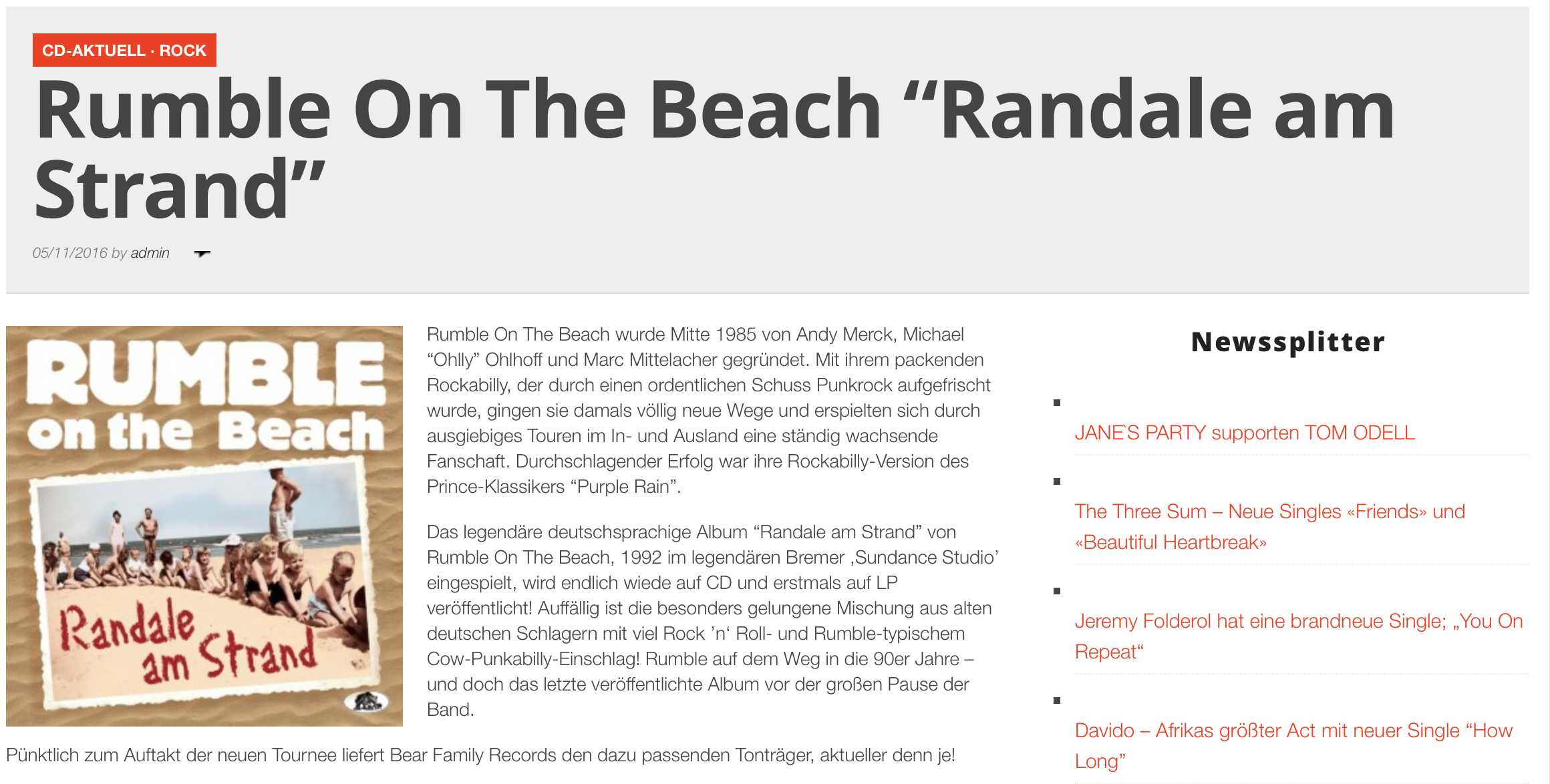 Rumble On The Beach - Randale Am Stran