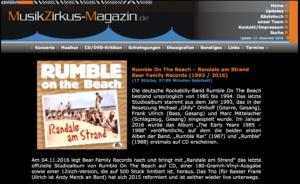 Presse - Randale Am Strand- Rumble on The Beach - musikzikus-magazin.de