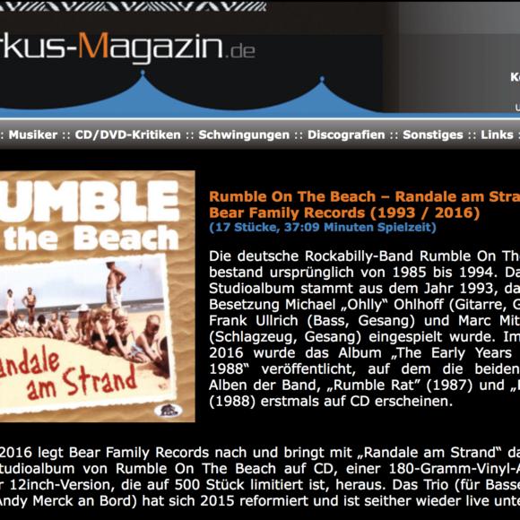 Presse – Randale Am Strand- Rumble on The Beach – musikzikus-