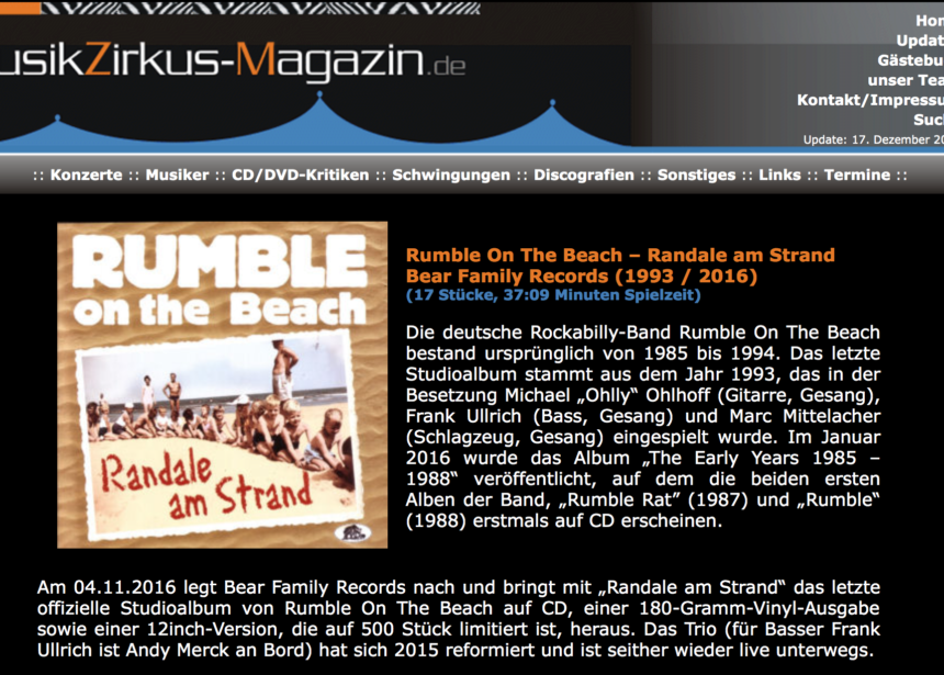Presse – Randale Am Strand- Rumble on The Beach – musikzikus-