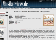 Presse – Randale am Strand von Rumble On The Beach – musikreviews.de