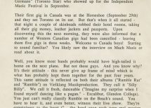 Presse – Rumble On The Beach Archiv – 1989 – Press Info Canada