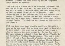 Presse – Rumble On The Beach Archiv – 1989 – Press Info Canada