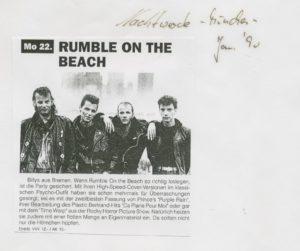 Presse – Rumble On The Beach Archiv - Januar 1990 – Nachtwache München