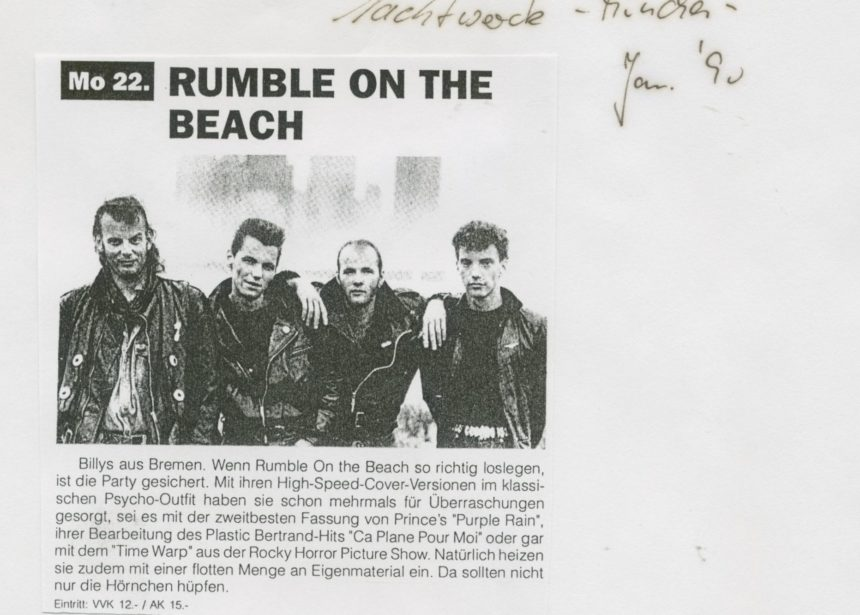 Presse – Rumble On The Beach Archiv – 1990 – Nachtwache München