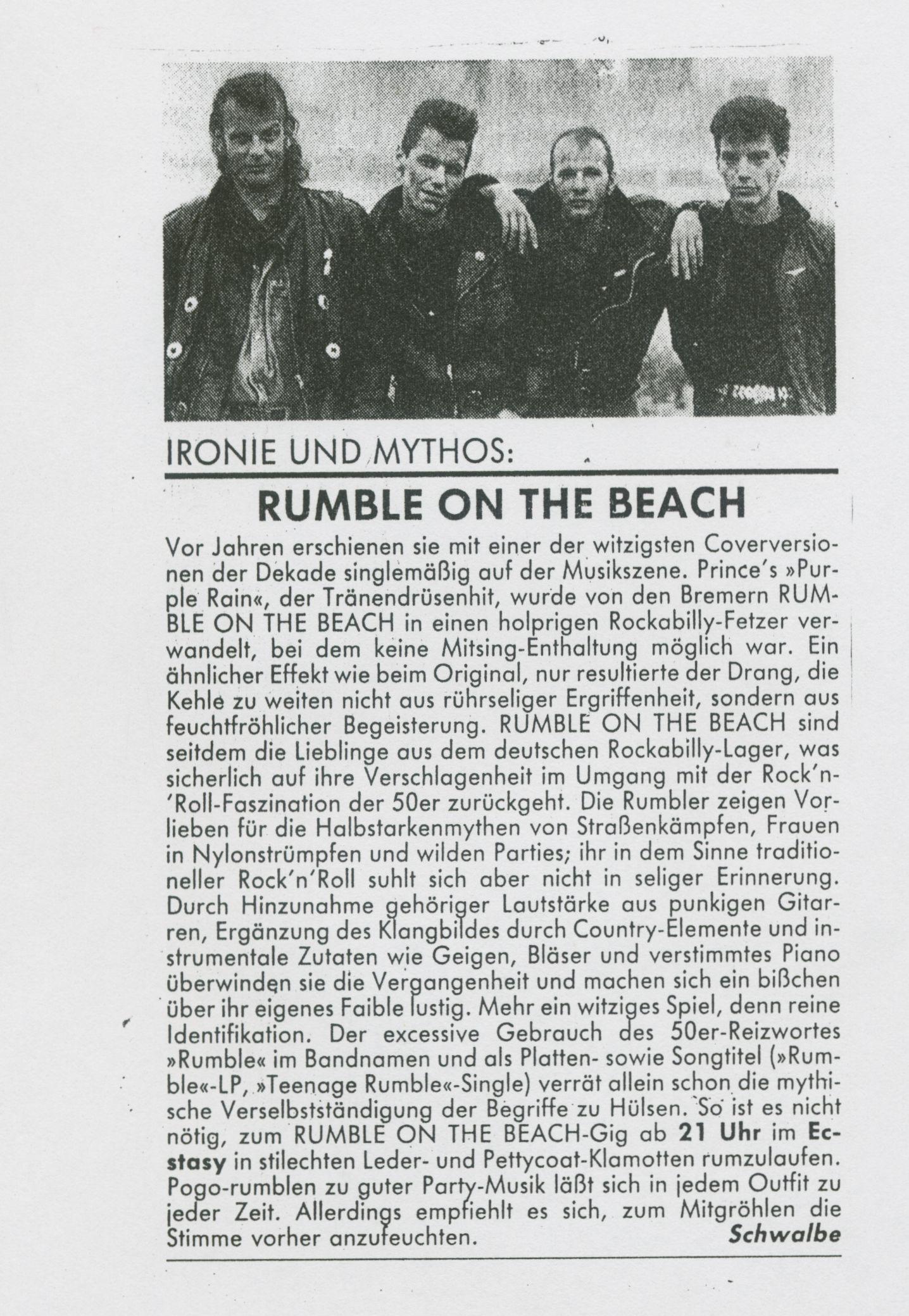 IRONIE UND MYTHOS: RUMBLE ON THE BEACH