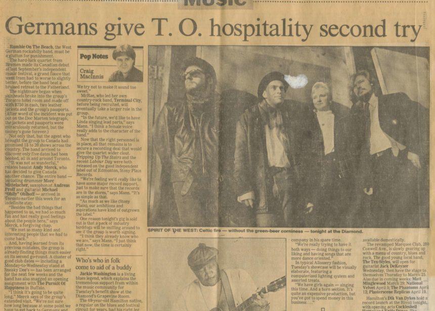 Presse – Rumble On The Beach Archiv – 1989 – Toronto Star – CDN