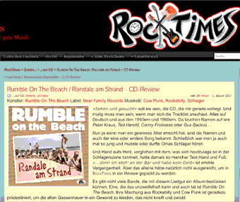Presse – Rumble On The Beach / Randale am Strand – CD-Review